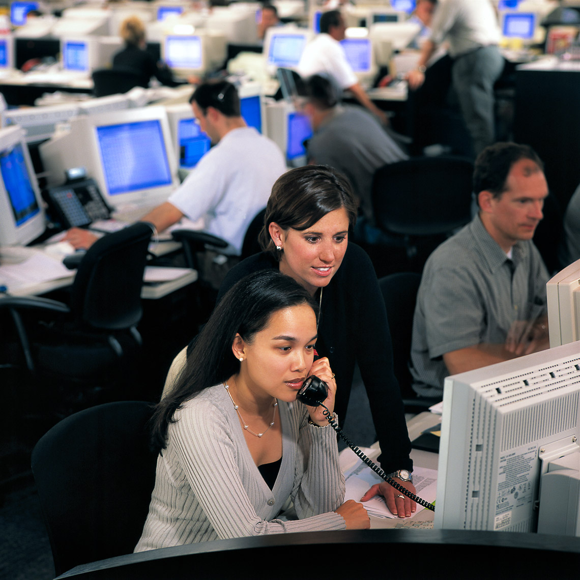 Traders on Coral Energy Trading Floor