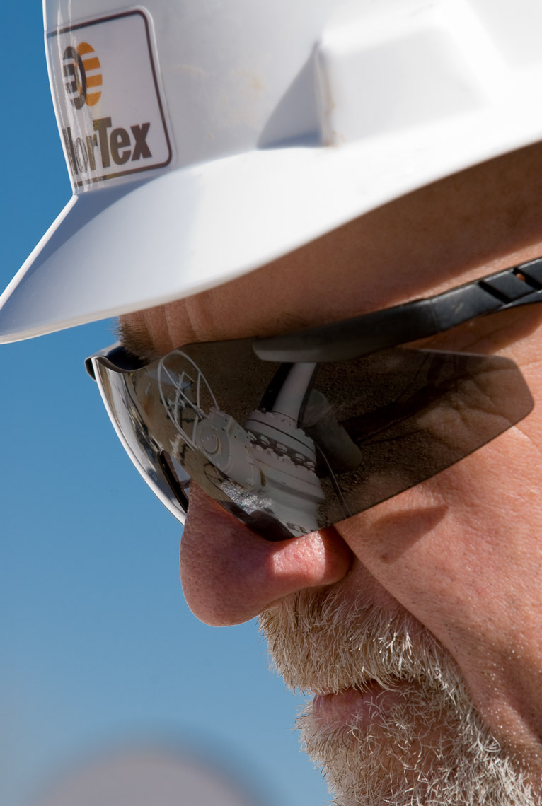 NorTex - Reflection of control valve in safety glasses